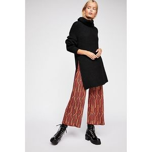 Free People Alina A-Line Pull-On Wide-Leg Pants XS